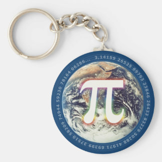 Porte-clés Pi coloré sur des maths de la terre |