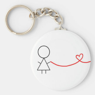 Porte-clés Pièce de fille de porte - clé de couples