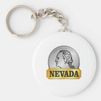 Porte-clés pièce de monnaie du Nevada