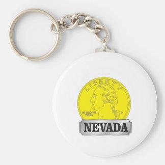 Porte-clés Pièce d'or du Nevada