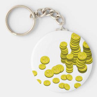 Porte-clés Pièces de monnaie d'or