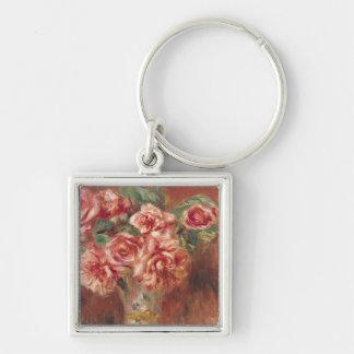 Porte-clés Pierre roses de Renoir un   dans un vase