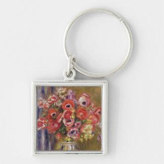 Porte-clés Pierre un vase à Renoir   de tulipes et d'anémones