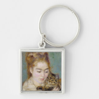 Porte-clés Pierre une femme de Renoir   avec un chat