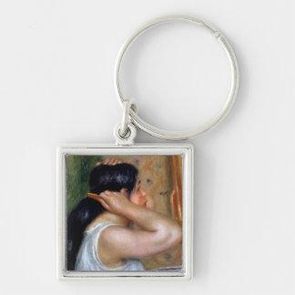 Porte-clés Pierre une fille de Renoir   se peignant les