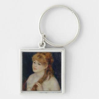Porte-clés Pierre une jeune femme de Renoir   tressant ses
