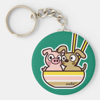 Porte-clés Pig and Dog Keychain