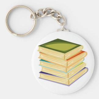 Porte-clés Pile de porte - clé de livres d'école