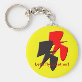 Porte-clés Pilotons ensemble le porte - clé