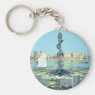 Porte-clés Pin de projet d'îles de Menorah