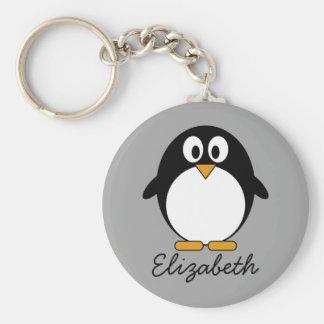 Porte-clés Pingouin mignon de bande dessinée avec l'arrière -
