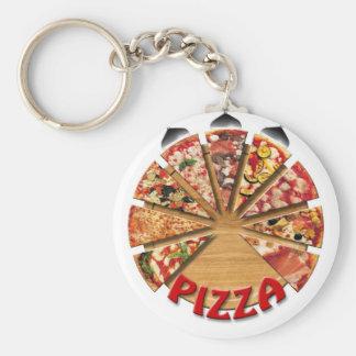 Porte-clés Pizza de porte - clé sur la planche à découper