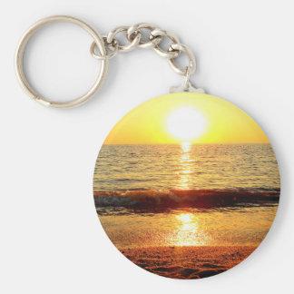 Porte-clés Plage de coucher du soleil, Cape May NJ