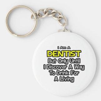 Porte-clés Plaisanterie de dentiste. Boisson pour vivre