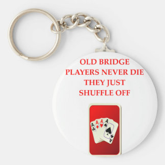 Porte-clés plaisanterie de joueurs de carte
