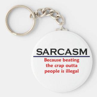 Porte-clés Plaisanterie drôle de sarcasme de KRW