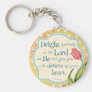 Porte-clés Plaisir dans le seigneur Keychain