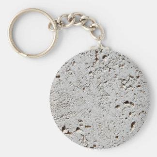 Porte-clés Plan rapproché fossile de surface de tuile de