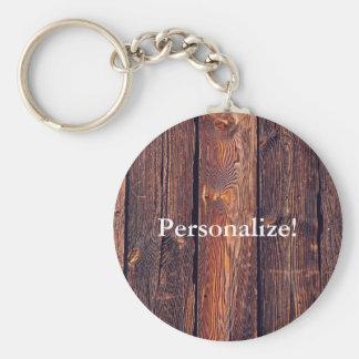 Porte-clés Planches en bois de motif de lamelle