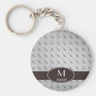 Porte-clés Plaque de métal de diamant