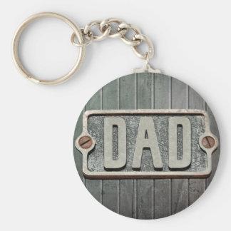 Porte-clés Plaque de métal rustique de PAPA