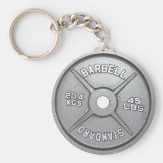 Porte-clés Plat d'haltère