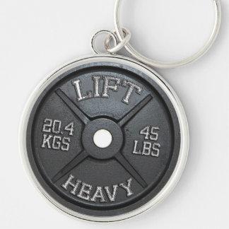 Porte-clés Plat d'haltère - soulevez lourd