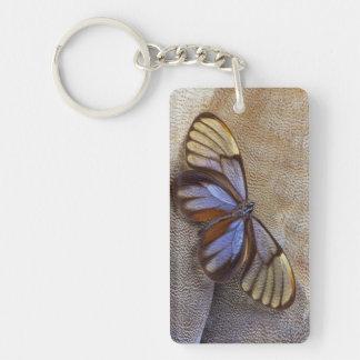 Porte-clés plume égyptienne d'oie de papillon de Verre-aile