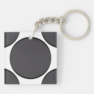 Porte-clés Point gris-foncé