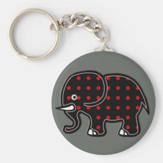 Porte-clés pointille l'éléphant