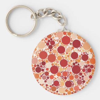 Porte-clés points de pizza