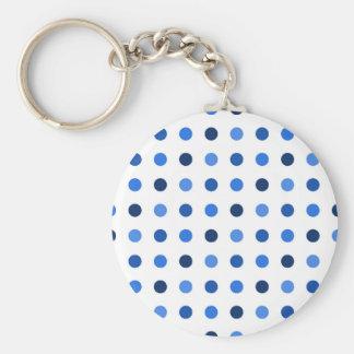 Porte-clés Pois bleu