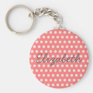 Porte-clés Pois girly adorable mignon de rose de bubble-gum