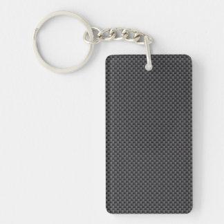 Porte-clés Polymère noir et gris de fibre de carbone