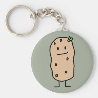 Porte-clés Pomme de terre de sourire mignonne heureuse