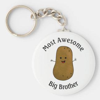 Porte-clés Pomme de terre heureuse la plupart de frère