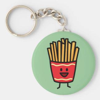 Porte-clés Pommes frites heureuses