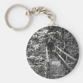 Porte-clés Pont par le porte - clé de forêt