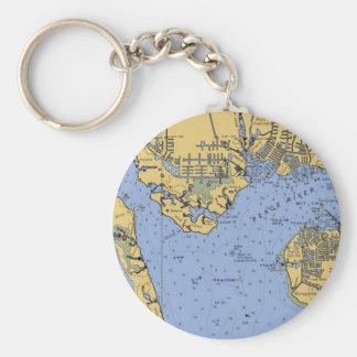 Porte-clés Port porte - clé nautique de diagramme de