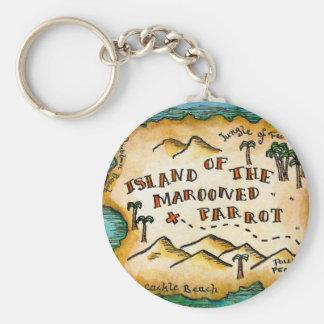 Porte-clés Porte - clé abandonné de carte de trésor de pirate