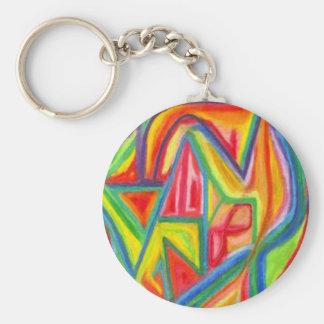 Porte-clés Porte - clé abstrait coloré
