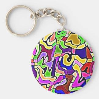 Porte-clés porte - clé abstrait coloré de motif