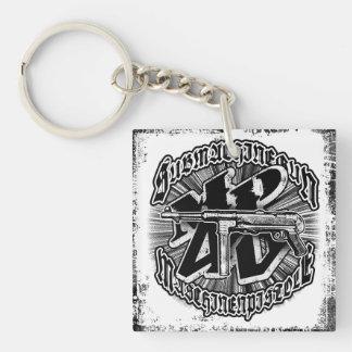 Porte-clés Porte - clé acrylique (double face) de carré de la
