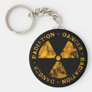 Porte-clés Porte - clé affligé de symbole de rayonnement