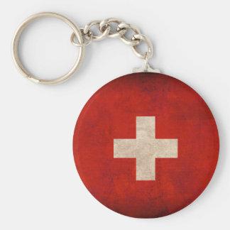 Porte-clés Porte - clé affligé par drapeau de la Suisse