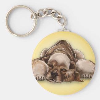 Porte-clés Porte - clé américain de chien de cocker de cuir