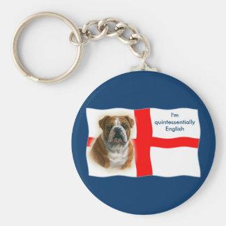 Porte-clés Porte - clé anglais de drapeau et de bouledogue