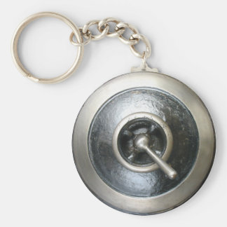 Porte-clés Porte - clé antique de commutateur de machine à