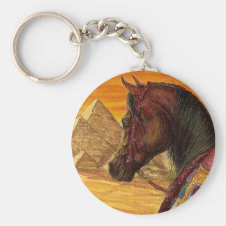 Porte-clés Porte - clé Arabe de cheval de rouge et d'or