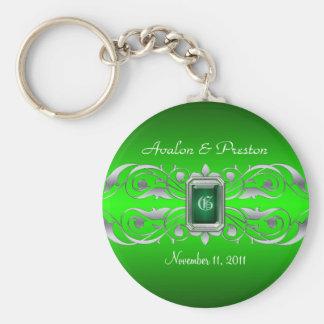 Porte-clés Porte - clé argenté de vert de Grande -Duchesse